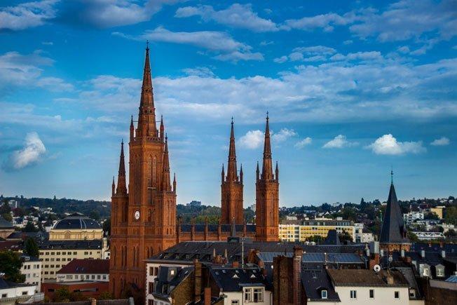 Aussicht über Wiesbaden