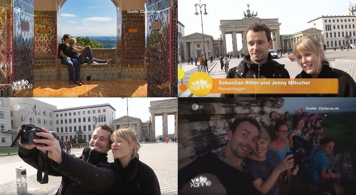 22places im ZDF in der Volle Kanne Sendung