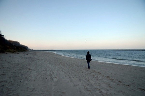 Wir an der Ostsee