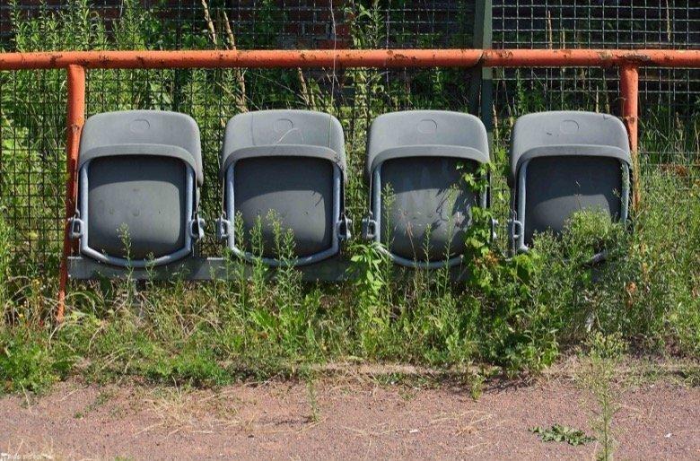 Verlassenes Stadion Berlin