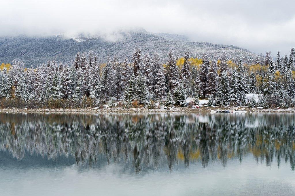 Spiegelungen im Patricia Lake, Jasper Nationalpark