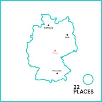Wo liegt Erfurt?
