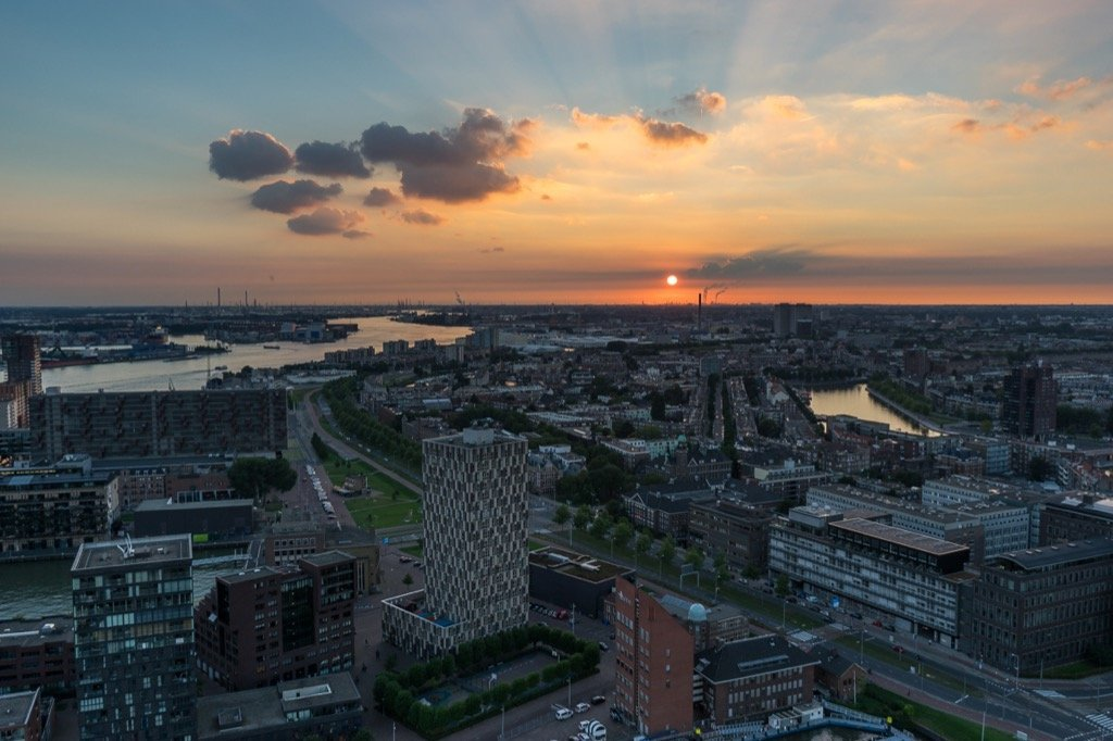 Euromast Sonnenuntergang