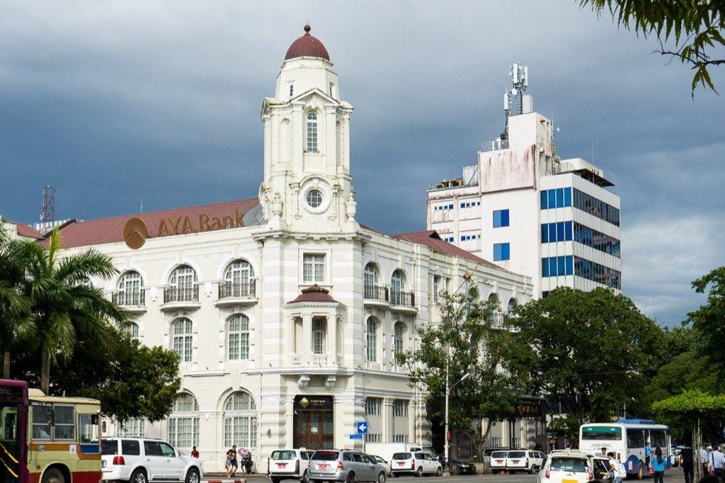 Yangon Kolonialgebäude
