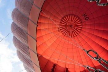 Ballon für die Ballonfahrt über Bagan