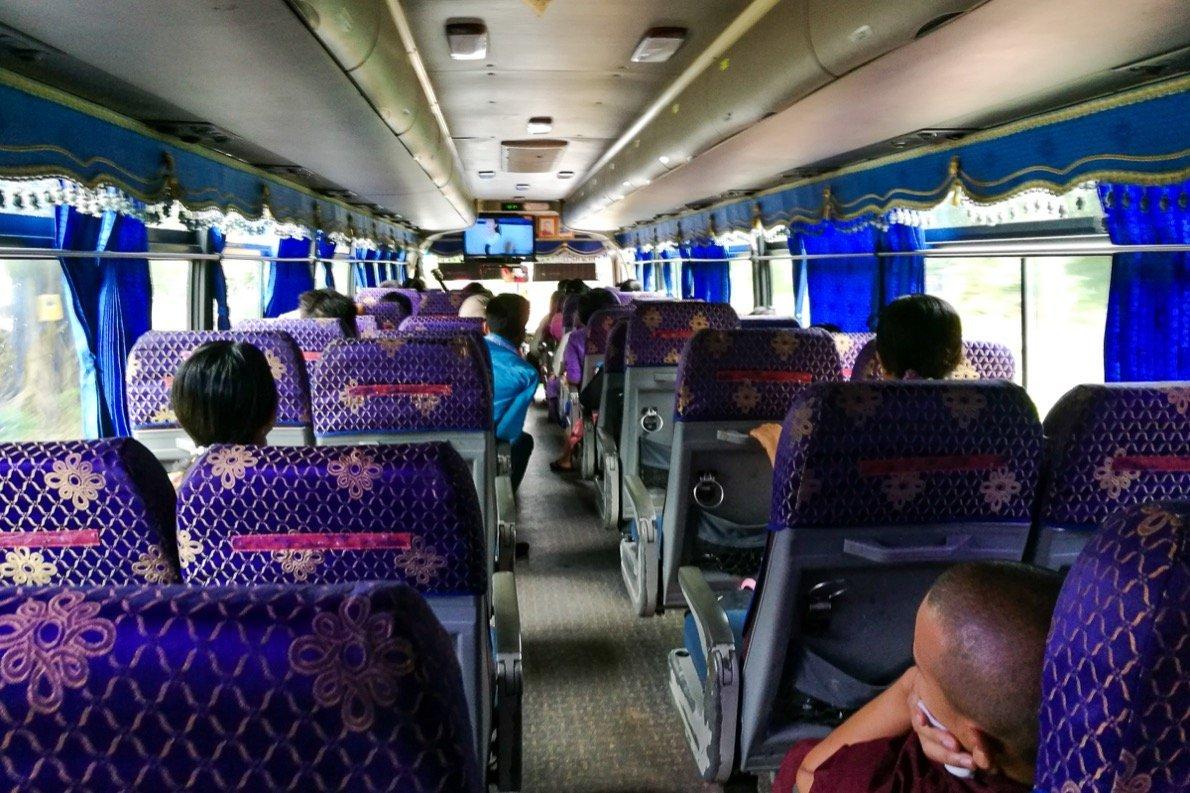 Busfahrt Hpa-an nach Mawlamyaing