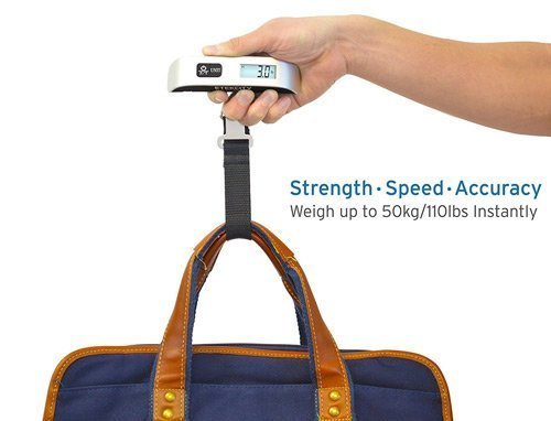 Luggage scale for travelers