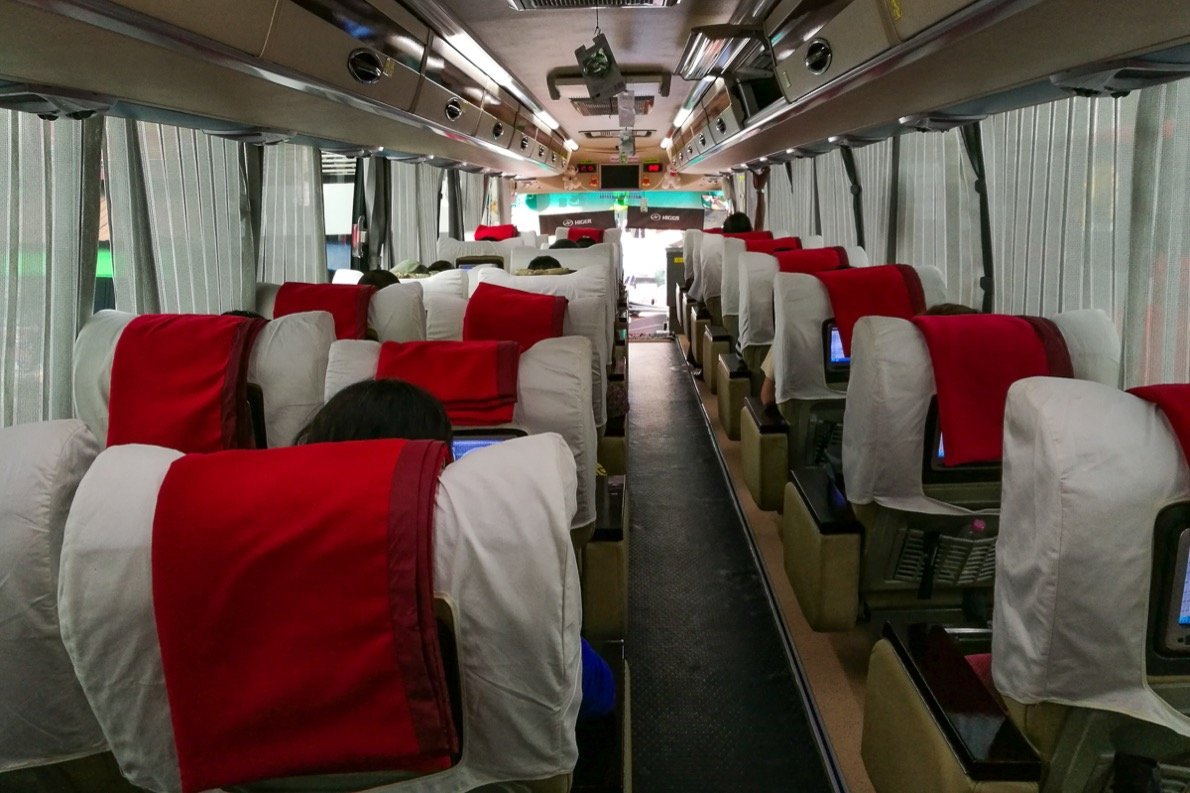 VIP Bus von Mawlamyaing nach Yangon