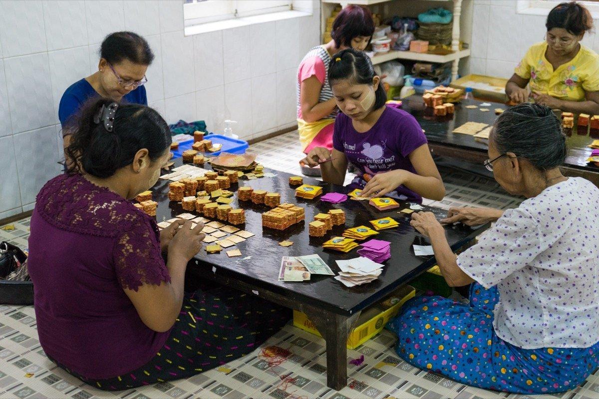 Blattgoldverkauf Mandalay
