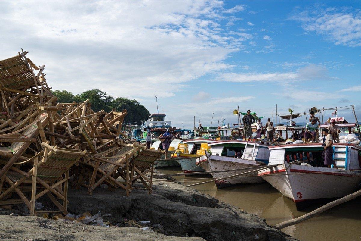 Hafen in Mandalay