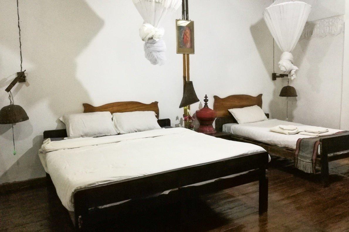 Zimmer im Prince Hotel Mrauk U