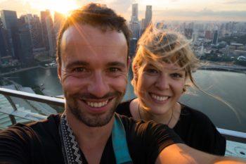 Marina Bay Sands Aussichtsplattform Singapur