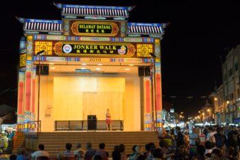 Karaoke auf dem Jonker Nachtmarkt Melaka