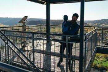 Basti auf der Aussichtsplattform des Prinzenkopfturms