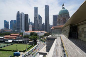 Blick auf die Skyline von der National Gallery