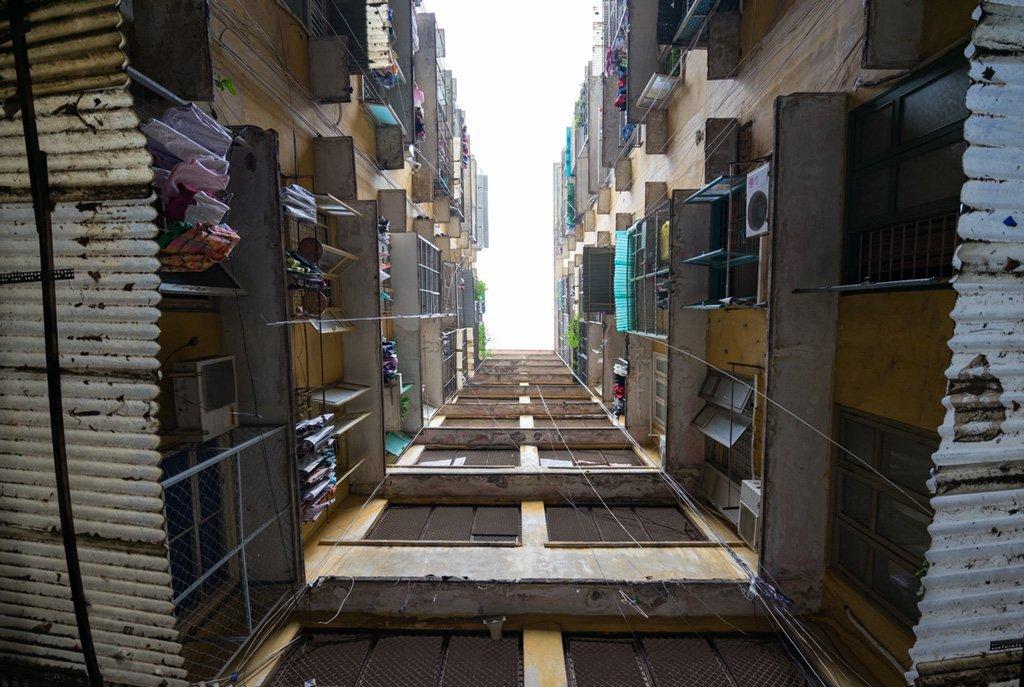 Hausschluchten in Saigon
