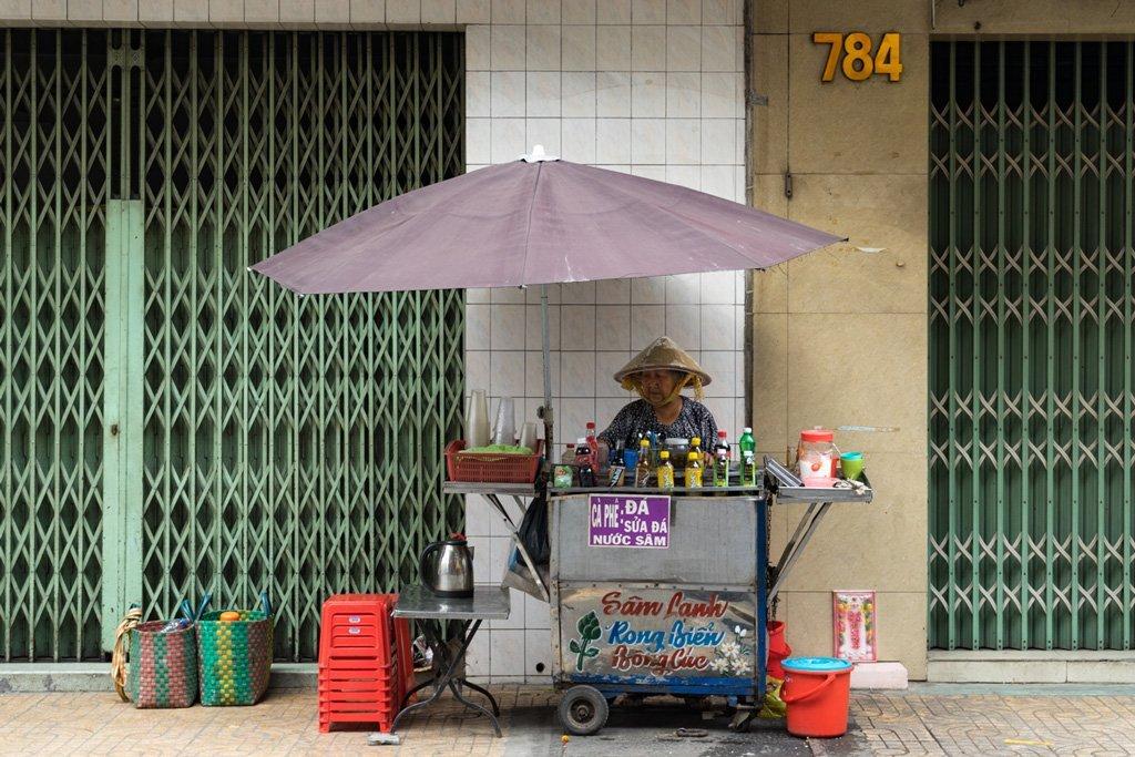 Straßenstand Chinatown, Saigon