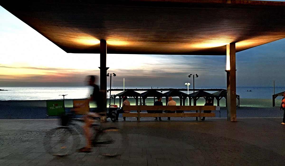 Tel Aviv Fahrradfahrer