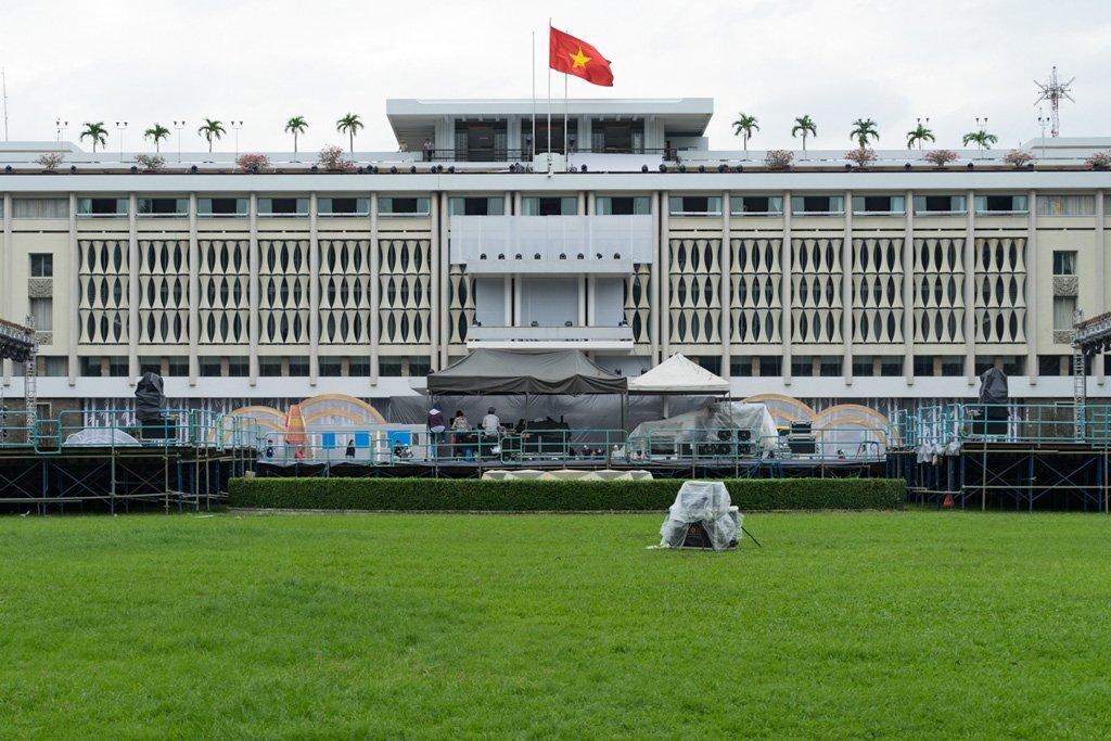 Der Wiedervereinigungspalast in Saigon