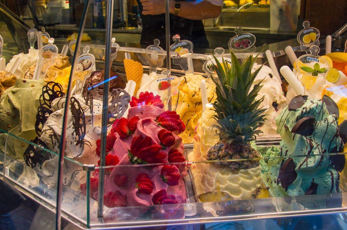 Eisdiele in Florenz mit hausgemachten Eissorten
