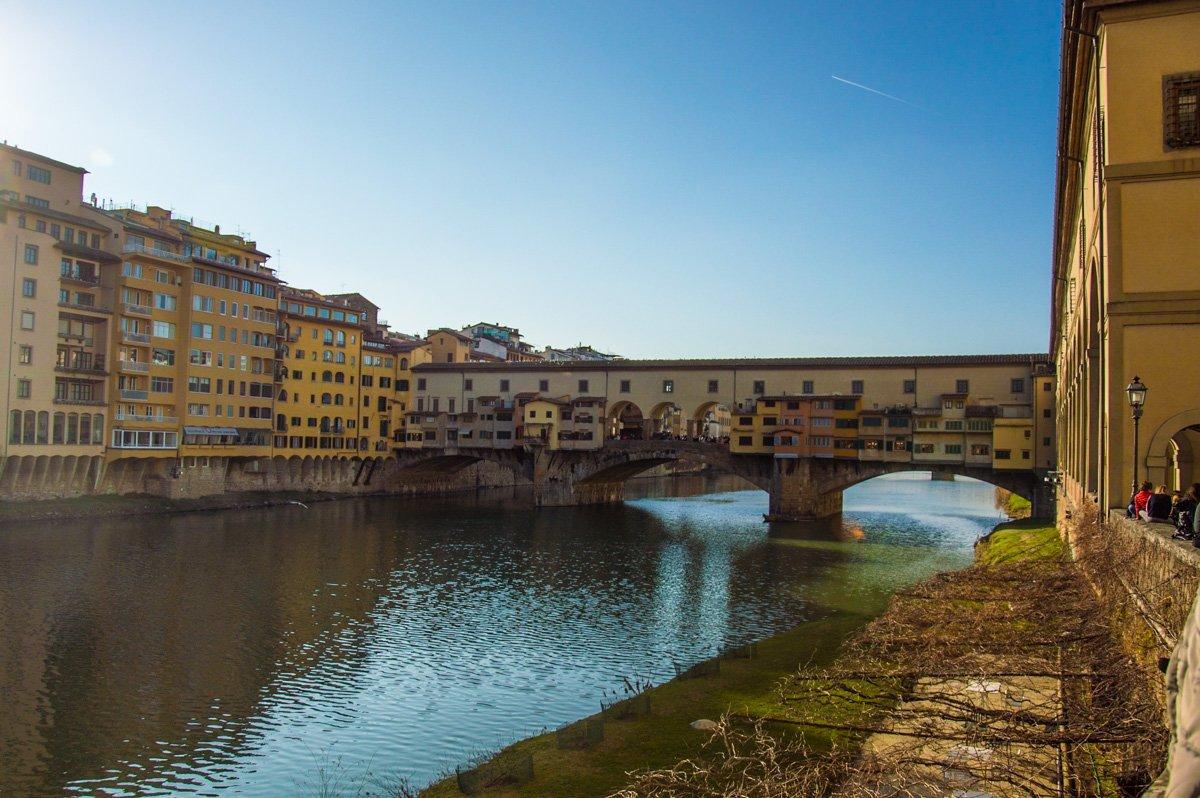 Die älteste Brücke in Florenz - Ponte Vecchio