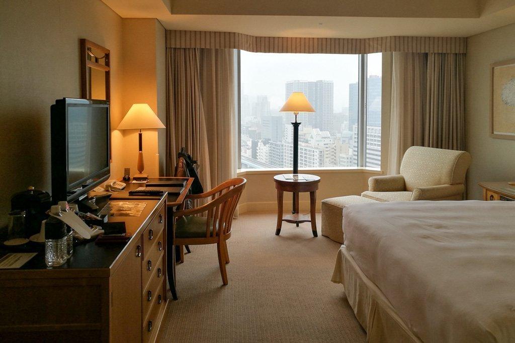 Unser Zimmer im 17. Stock des Intercontinental Tokyo Bay Hotels.