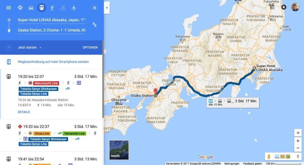 Japan Bahn Auskunft