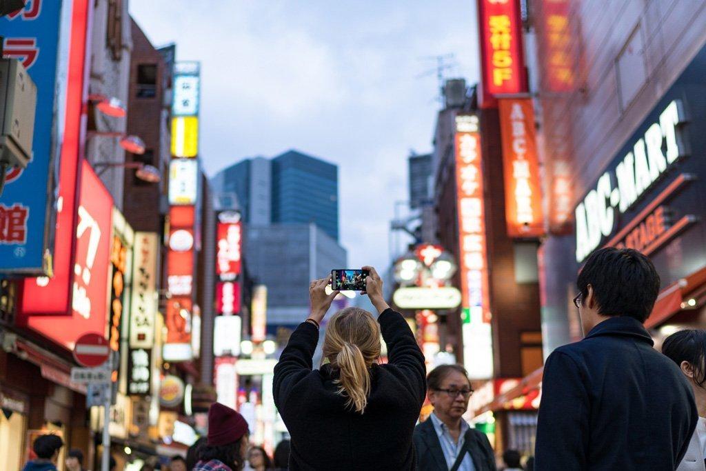 Handyfotografie in Tokio