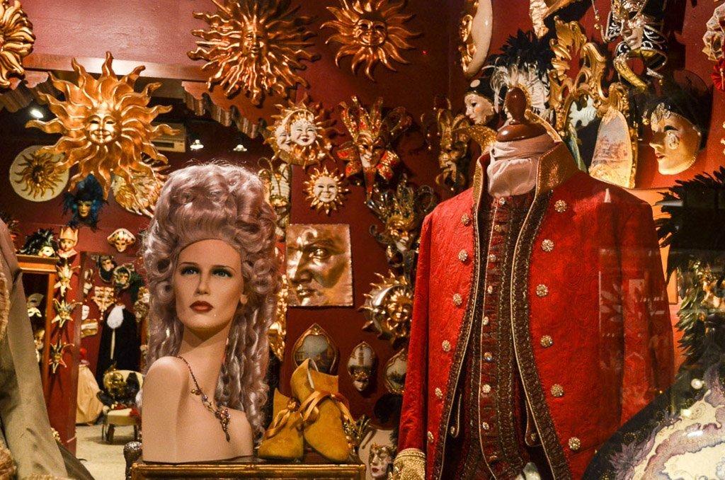Der Karnevalsladen in Venedig