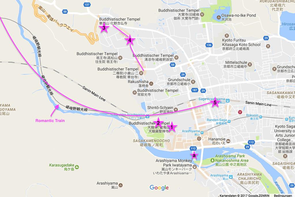 Sehenswürdigkeiten im Westen, in Arashiyama.