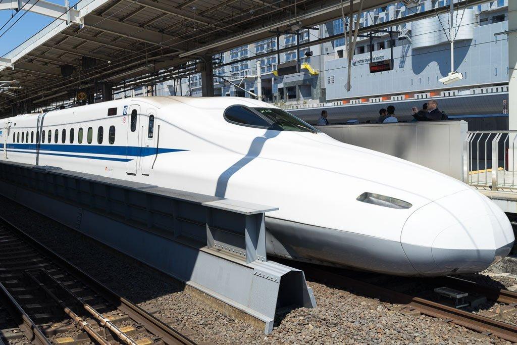 So sehen die Shinkansen, die japanischen Schnellzüge aus.