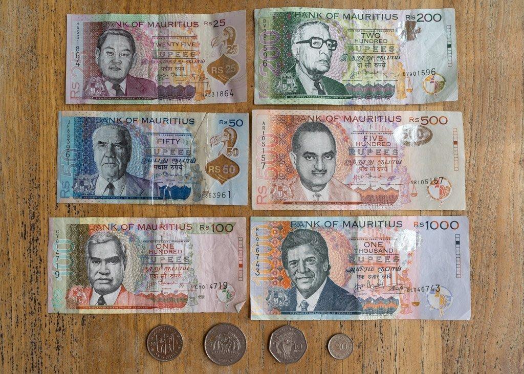 So sieht die Währung auf Mauritius aus.
