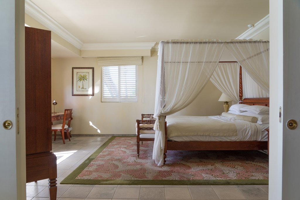 Our bedroom at The Residence in the east of Mauritius
