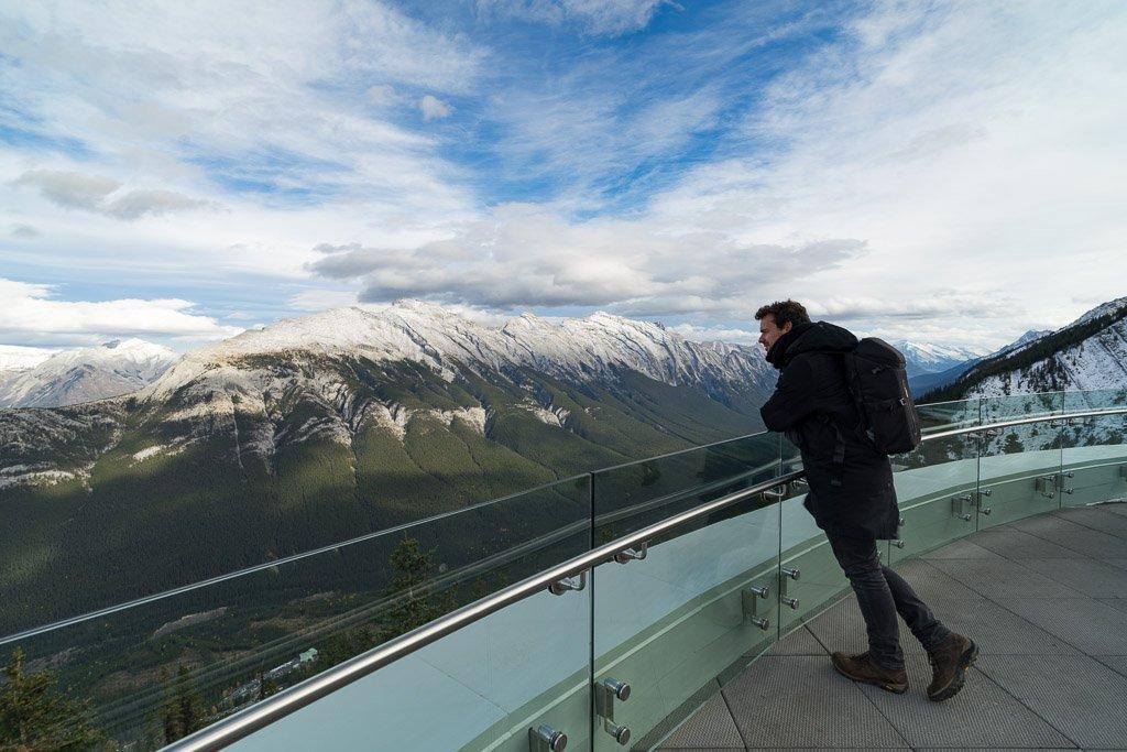Aussichtsplattform auf dem Sulphur Mountain