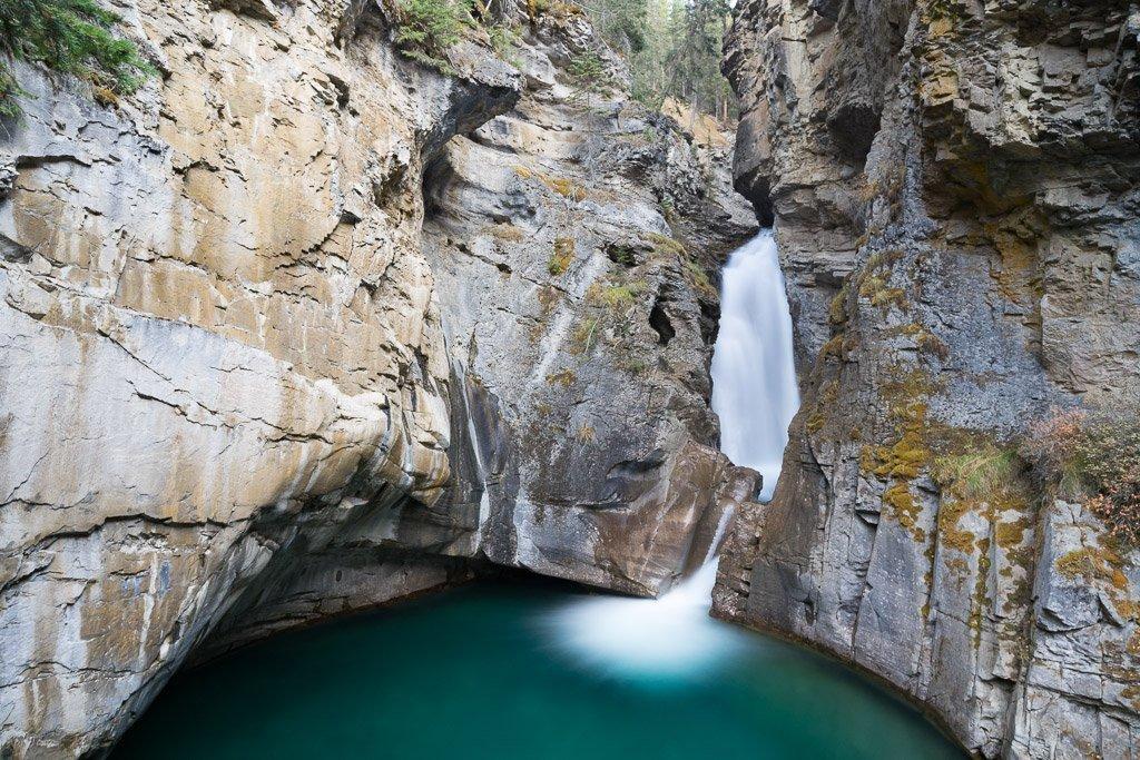 Die Lower Falls im Johnston Canyon