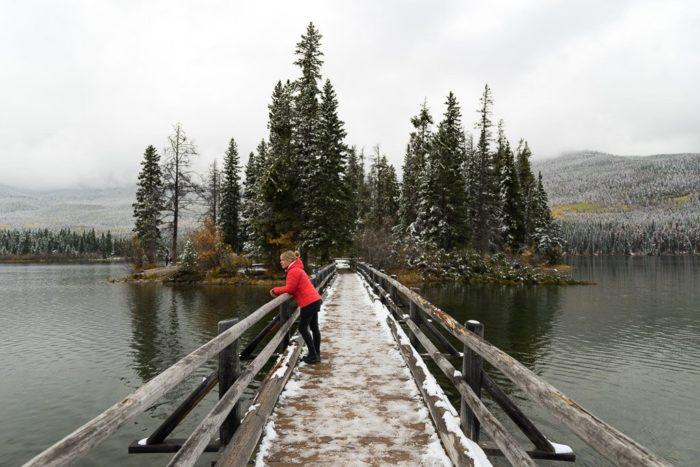 Pyramid Lake mit Brücke zur Pyramid Island