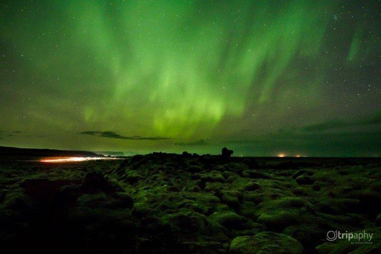 Lavafeld Nordlicht