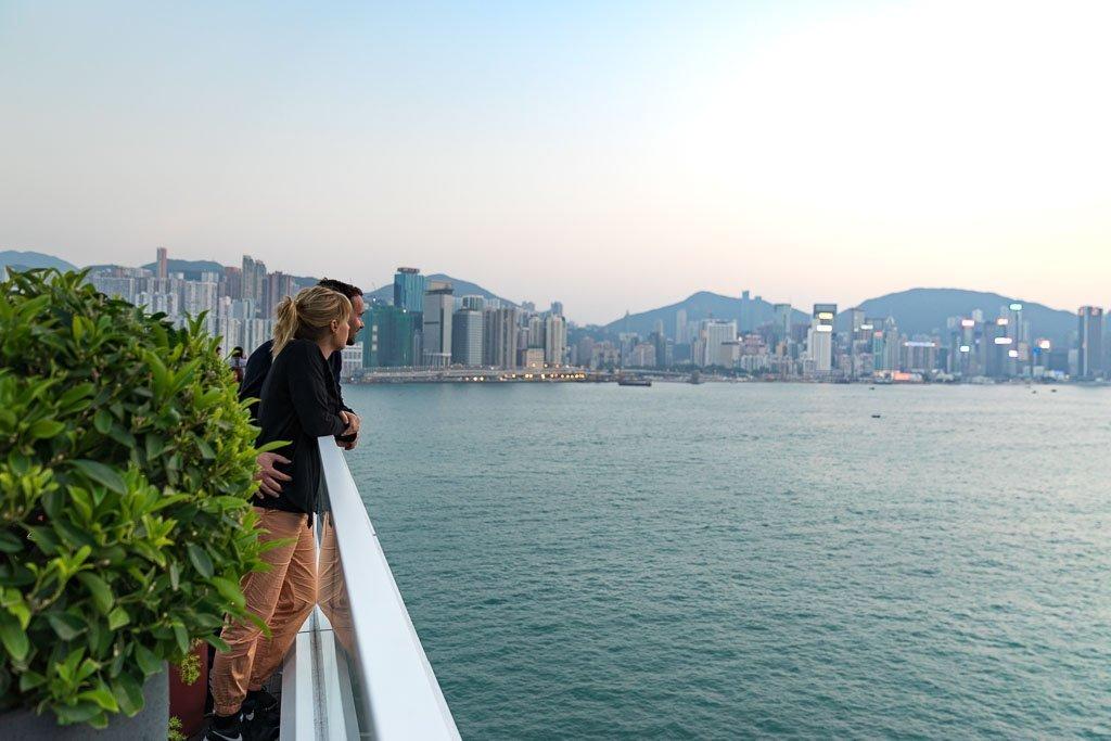 Skyline von Hong Kong bei Tag
