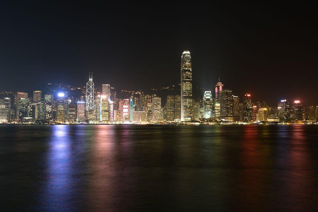 Hongkong Skyline bei Nacht
