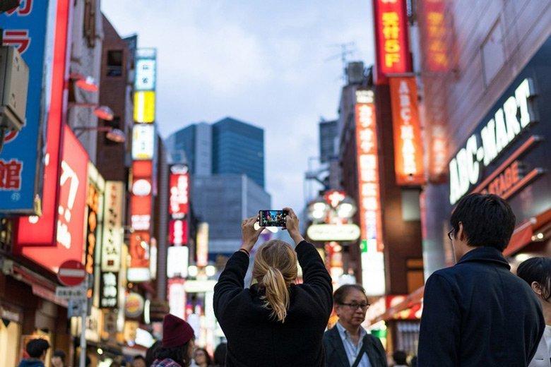 Mit einer Festbrennweite in Tokio