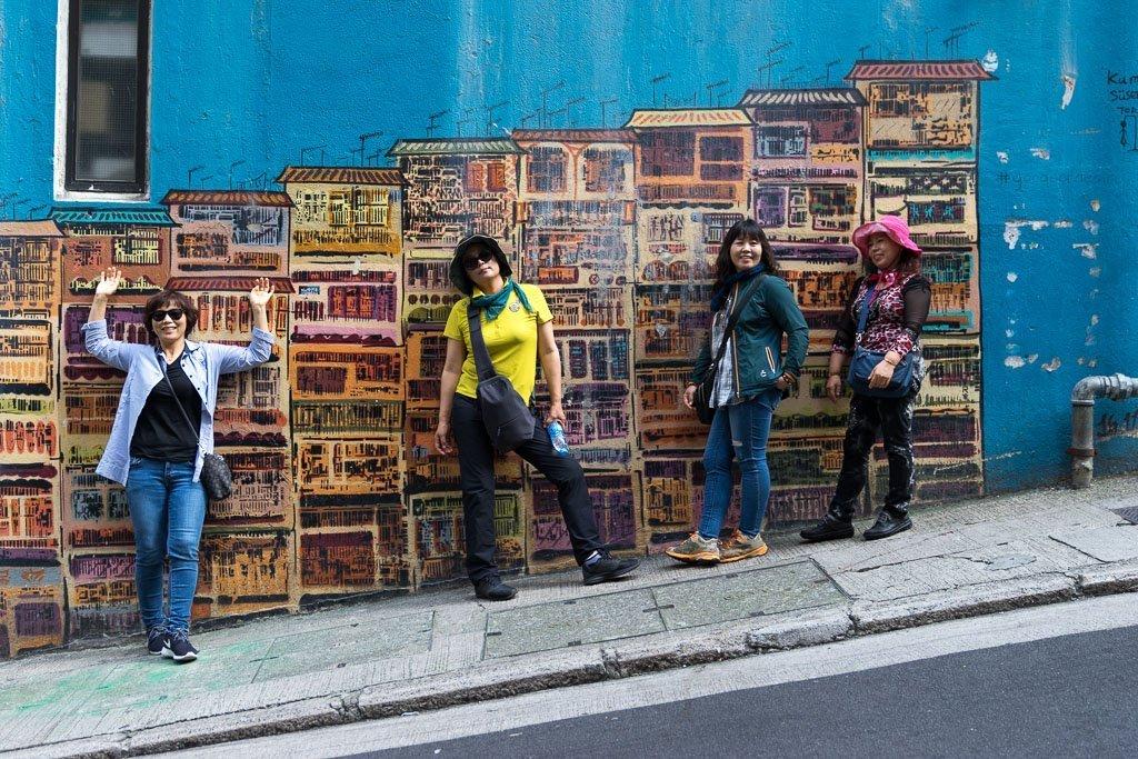 Streetart in Hongkong.