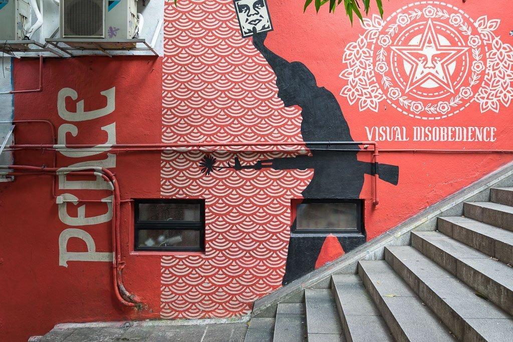 Streetart Soho Hongkong