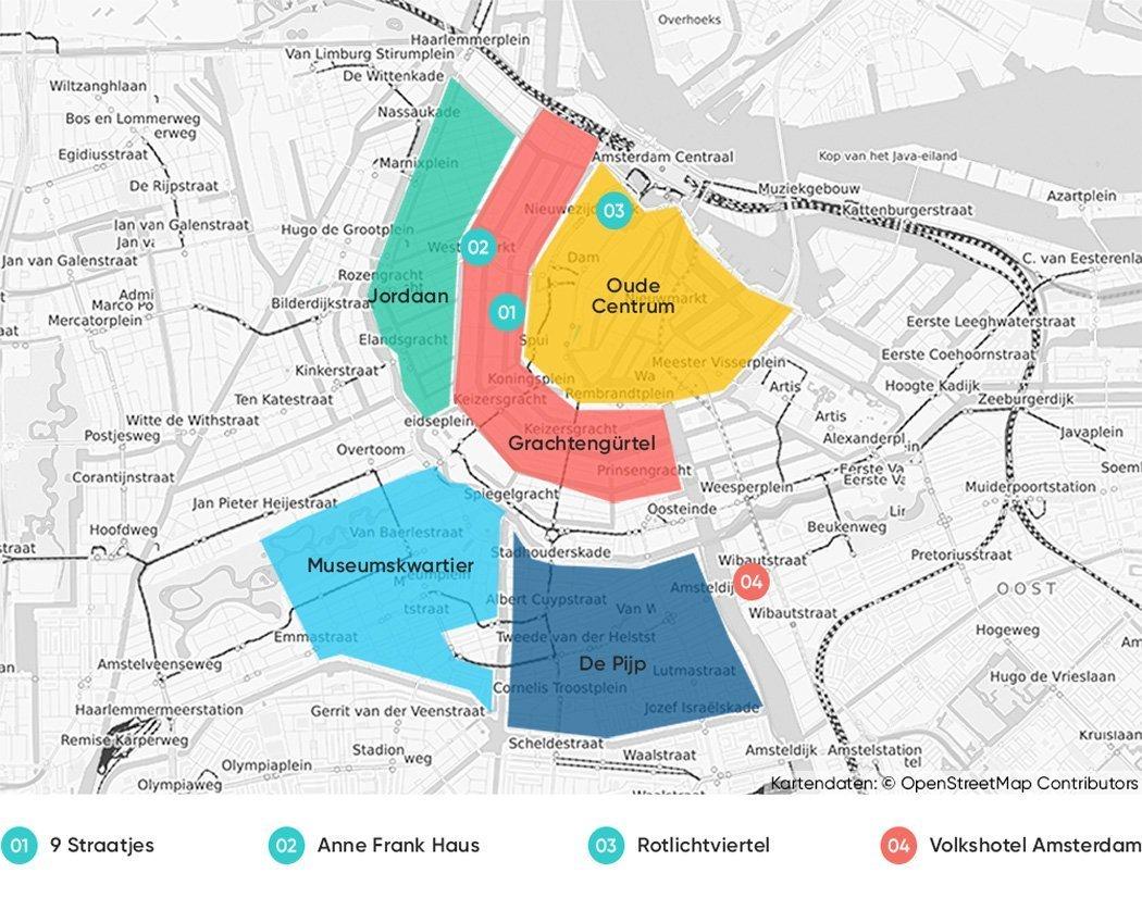 Bezirke in Amsterdam, die wir dir zum Übernachten empfehlen.
