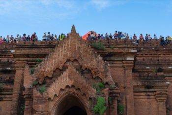 Sonnenuntergang Bagan am Pyathadar Tempel