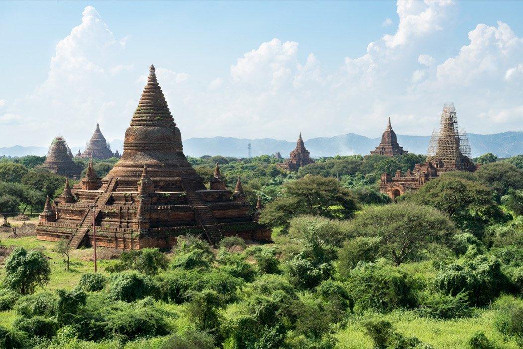 Aussicht aus der Shwegugyi Tempel