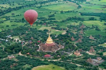 Der Dhammayazika Tempel von oben