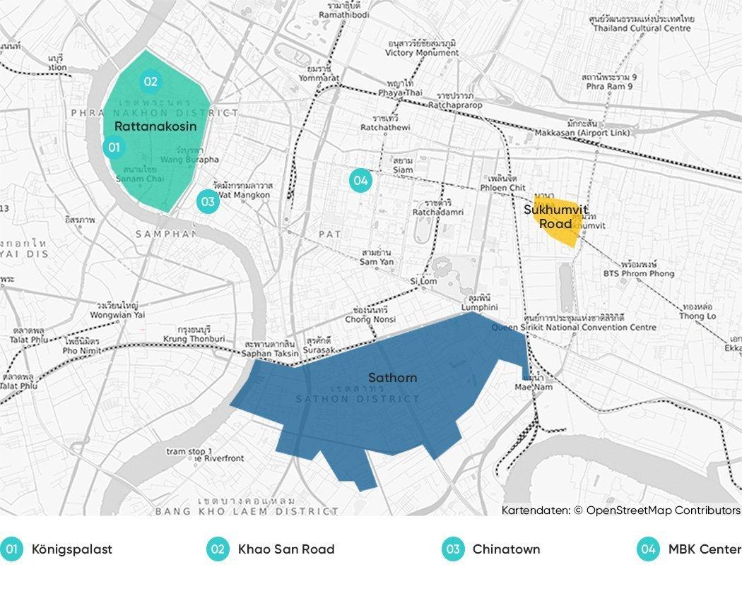 Diese Teile Bangkoks empfehlen wir dir zum Übernachten