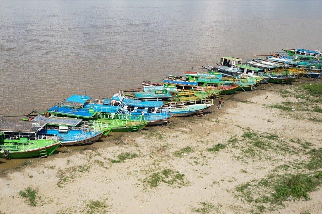Bootsfahrt auf dem Irrawady