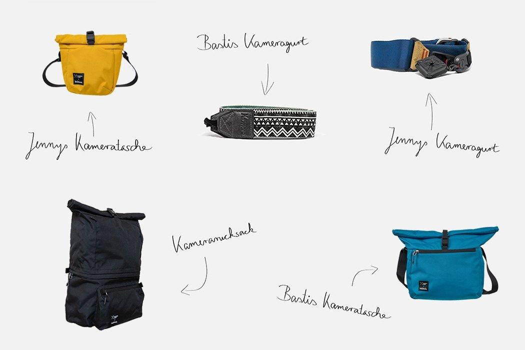 Unsere Kamerataschen und unsere Kameragurte