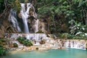 Wasserfall Kuang Si in der Nähe von Luang Prabang